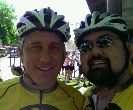 Greg LeMond and Marty Fahncke