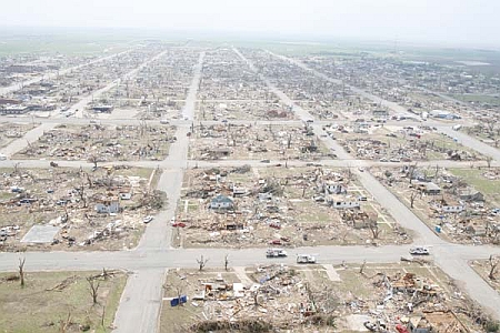Greensburg, Kansas after the tornado of2007