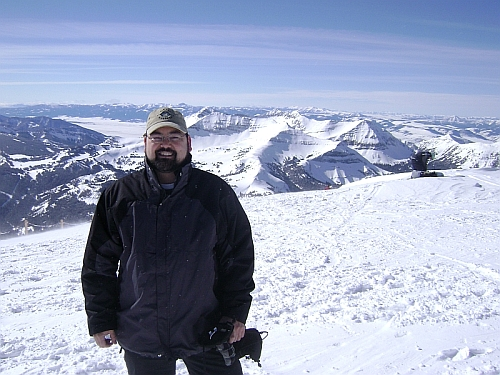 Marty Fahncke on Lone Peak in Montana