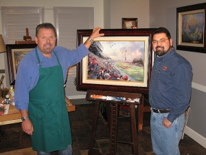 Thomas Kinkade and Marty M. Fahncke