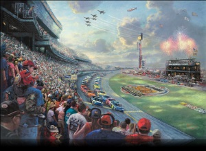NASCAR Thunder by Thomas Kinkade