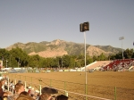 One of my favorite things in the world...the Pioneer Days Rodeo in Utah.  Check out the mountains next to the arena!