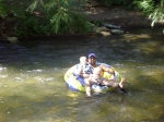 My youngest and I (me?) floating on the river in Lava Hot Springs, Idaho