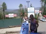 Riding the Alpine Slide in Park City, Utah