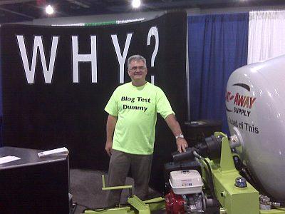 Bruce Christensen from Cart-Away at the BlogWorld Expo