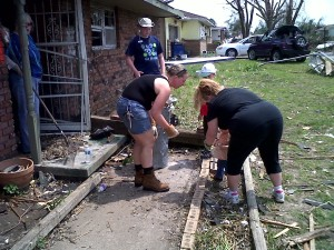 Helping a family in Joplin