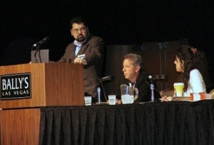 Marty Fahncke Moderating Panel at Affiliate Summit