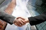 Partnership handshake hand-shake