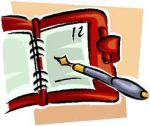 dayplanner agenta and pen image
